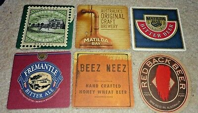 Collectable beer coasters: Set of 6 assorted Matilda Bay beer coasters