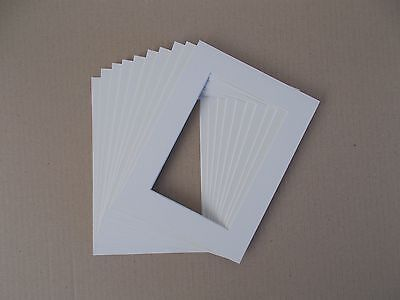 """10 x Professional Picture Framing Mat Boards 5''x7'' with 4''x 6"""" Photo"""