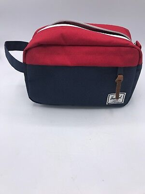 d4f5938cd41 Herschel Supply Co Chapter Travel Kit Blue Red White Carrying Handle Canvas