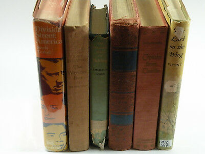 6x Vintage Antique Book Lot Collection Circa (1927 - 1970) Steinbeck and MORE!