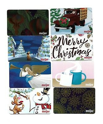 8 Meijer's Grocery Store Christmas Gift Cards