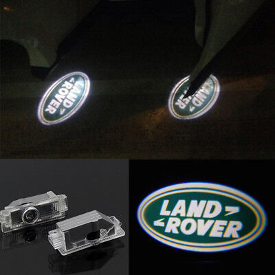 4x LED 3D Logo Door welcome Projector Light For 2010-2014 Land Rover Range Rover