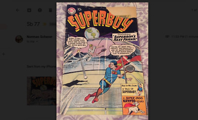 Superboy 77 - Dec 1959 - Adv of Superman When He Was A Teen - Good