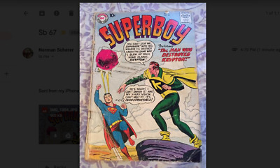 Superboy 67 - Sept 1958 - Adv of Superman When He Was A Teen - Good