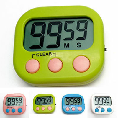 Magnetic Large LCD Screen Digital Kitchen Timer Alarm Clock Loud Count Up Down
