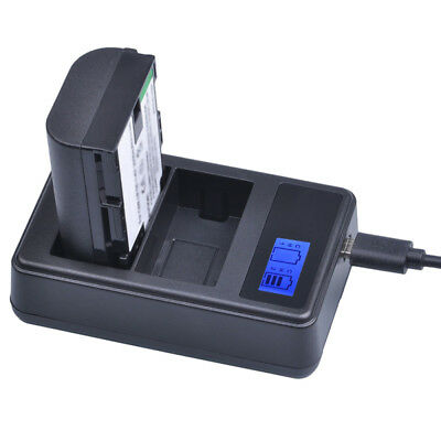 LP-E6 Battery LCD DUAL Charger For Canon EOS 5D Mark II III EOS 70D 7D 60 D