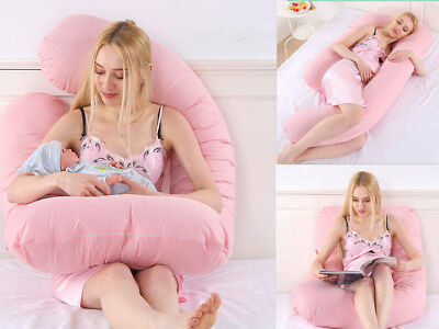 Nursing Pregnancy Maternity Oversized U Shape Pillow Boyfriend Full Support Body