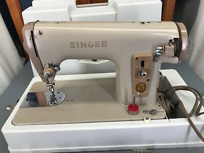Singer Model 227M (Italy) Sewing Machine Portable Heavy Duty Vintage