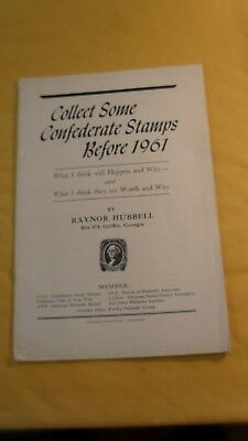 Collect Some Confederate Stamps by Hubbell - used booklet
