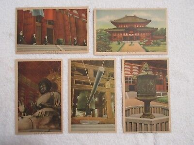 vintage World War 2 era Japanese postcards, bought back by seviceman lot of 5 F