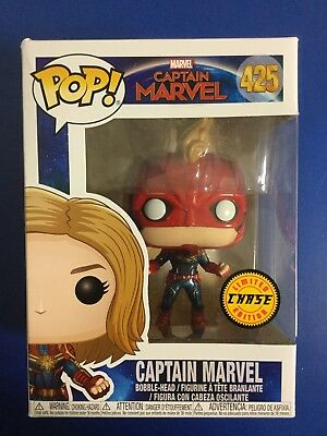 FUNKO POP! MASKED CAPTAIN MARVEL. Limited Edition CHASE Figure. #425