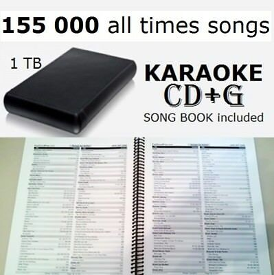 Hard Sing KARAOKE HDD cdg+mp3 Collection 155k all times songs 1Tb Hard Drive