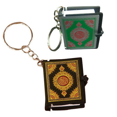 Mini Book Arabic Koran Quran Islam Muslim Allah Paper Key Ring Chain Keyring UK