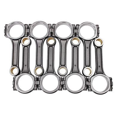 """I Beam 5.700"""" 2.100"""" .927"""" Bronze Bush 5140 Connecting Rods For Chevy SBC 350 US"""