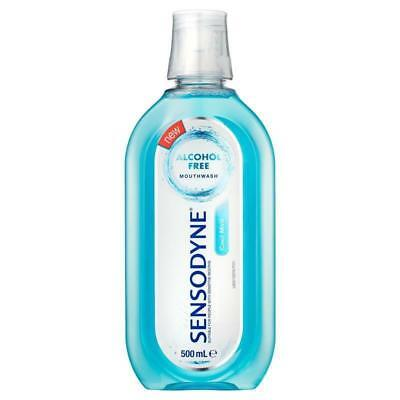 Sensodyne Mouthwash 500Ml Cool Mint Alcohol Free For Sensitive Mouths