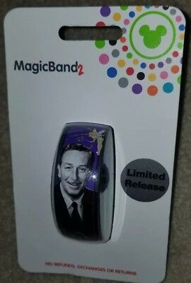 NEW Disney Parks Walt Disney Signature Tinkerbell Purple Magic Band 2 LINKABLE