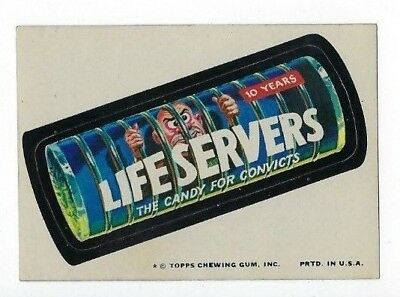 1974 Topps Wacky Packages 10th Series 10 LIFE SERVERS CANDY nm-
