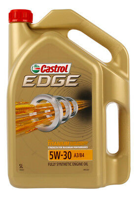 Castrol EDGE 5W30 A3 B4 Engine Oil 5L 3383427 fits Subaru Liberty 2.5 (BL), 2...
