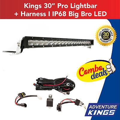 "Kings 30"" Pro Lightbar + Harness   IP68 Big Bro LED"