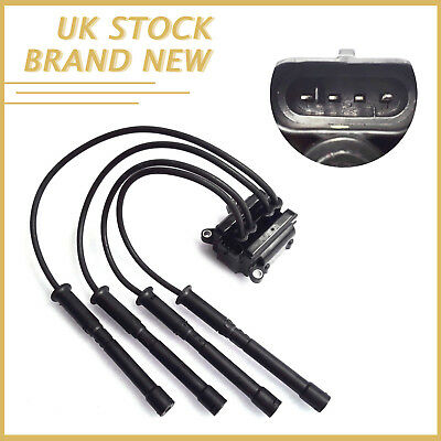 4pins Ignition Coil Pack Leads 3 Bolt Fixing For Renault Clio MK2 1.2 16v 597083
