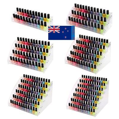 2-7 Tier Acrylic Nail Polish Lipstick Stand Display Rack Holder Makeup Organizer