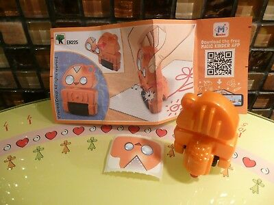 KINDER - EN225 - Mixart : Robot orange (crayon rouge) + BPZ