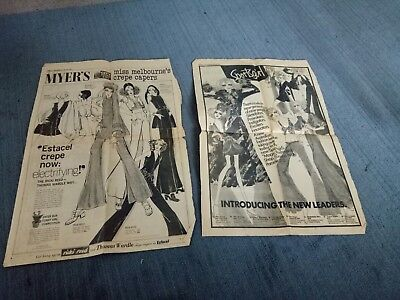 Original vintage full-page fashion advertising Sportsgirl and Myer 1969 Herald