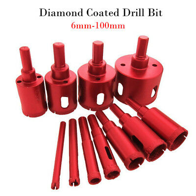 Diamond Hole Saw 6-100mm Drill Bit Cutter Tile Glass Ceramic Porcelain Marble