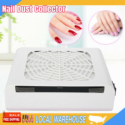 48W UV Gel Nail Fan Art Salon Suction Dust Collector Vacuum Cleaner Nail Machine