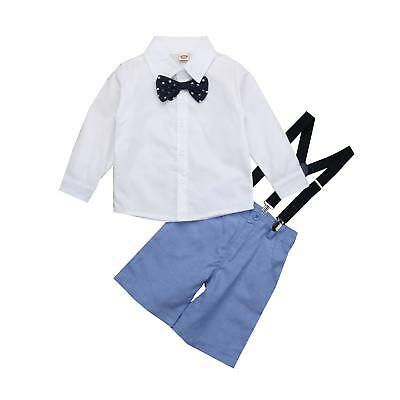 US Toddler Kid Baby Boy Wedding Christening Tuxedo Suit Gentleman Outfit Clothes