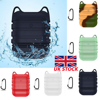 For Apple AirPods Case Waterproof Shockproof Soft Silicone 360° Protective Cover
