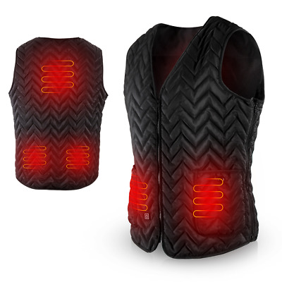 AGPTEK Heated Vest Light Weight Insulated USB Charging Washable Adjustable
