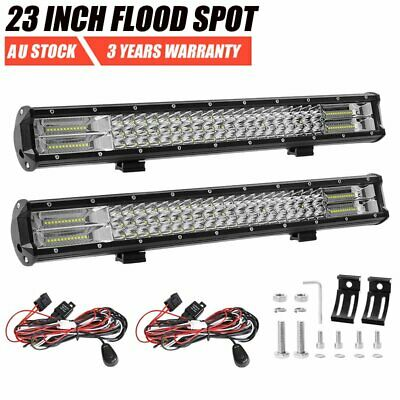 """2x 23inch Philips LED Work Light Bar Spot Flood Offroad 4WD Truck SUV 20"""" 23"""""""