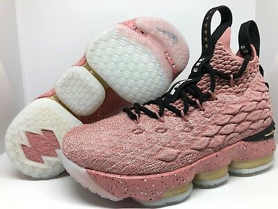 3b3891ff236 Nike Lebron XV 15 LMTD GS Hollywood Rust Pink Kids Boys Girls 4Y  943762-