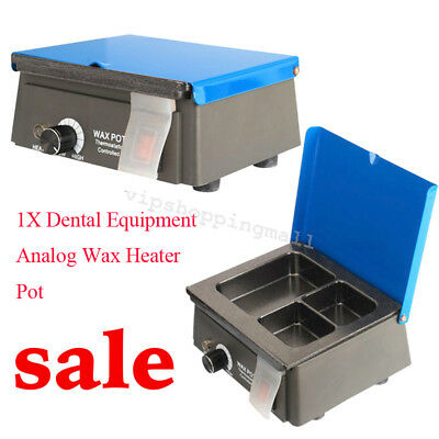 Analog Wax Heater Pot 3-Well Digital Waxer Melting Dipping for Dental Lab System