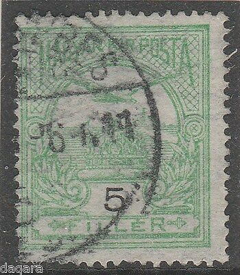 OCC. 038 Stamp HU, Foreign Post Office in RO, Michel 112, SEBES-SZASZSEBES