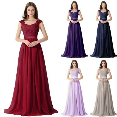 Long Evening Formal Party Dress Prom Ball Gown Bridesmaid Applique New 6-26W