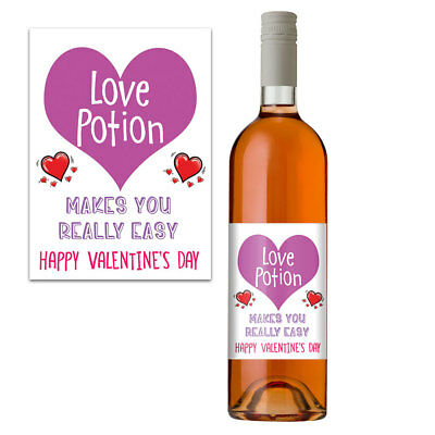 Valentines Gift For Him & Her Funny Wine Bottle Label Perfect For Husband & Wife