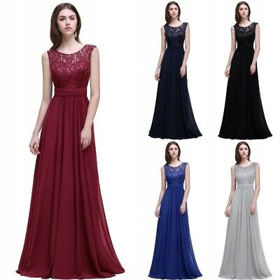 Chiffon Long Evening Formal Party Dress Prom Ball Gown Bridesmaid 6-30W New