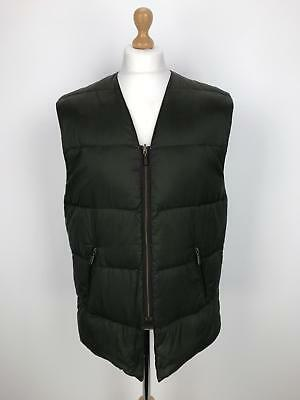 Vintage BARBOUR A858 Down Fill Liner | Country Gilet Outdoors | C44/112CM Green