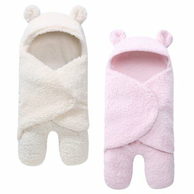 Newborn Baby Sleeping Bag Sleepsack Swaddle Wrap Stroller Bed Blanket 22''x11''