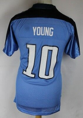 YOUNG #10 Tennessee Titans American Football Jersey Shirt Youths XL Reebok