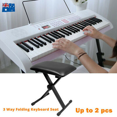 Portable Piano Stool Adjustable 3 Way Folding Keyboard Seat Bench Piano Chair AU