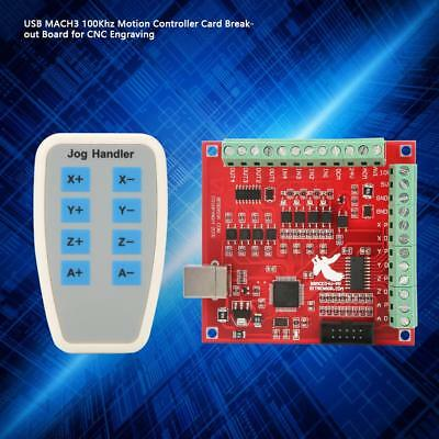 CNC MACH3 USB 4 Axis 100KHz Stepper Motion Controller Card Breakout Board BT