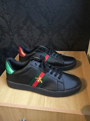 092ce2f5127  Gucci  Ace Bee Trainers Unisex Uk 8.5 Black.