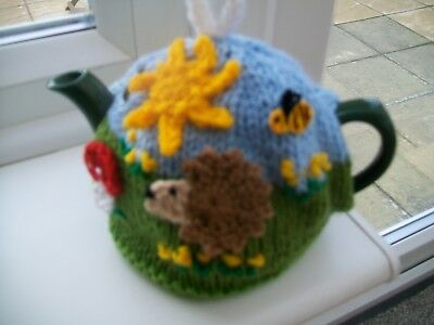 Hand Knitted Hedgehog Tea Cosy  For A Small Teapot 1-2 Cup