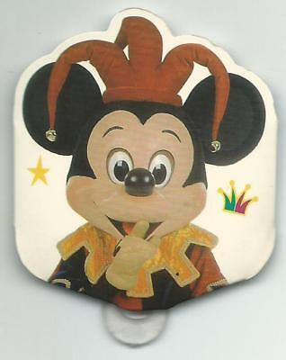 Badge carton Euro Disney Disneyland 5 ans du parc Mickey avril 1997 fête fou TTB
