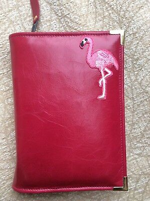 Pink flamingo  leather bible cover 4 Jehovah's Witness's Bible (DLbi12-E)