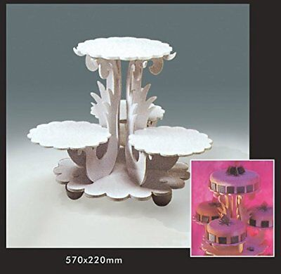 White Centrepiece cake stand for beautiful cake, cupcake MisterChef®