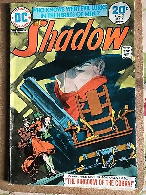 The Shadow # 3 Kaluta/wrightson Art - Cents Dc Comics 1974